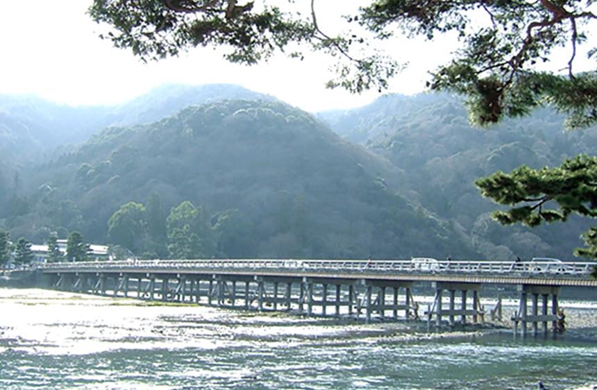 京都マラソン2019 渡月橋