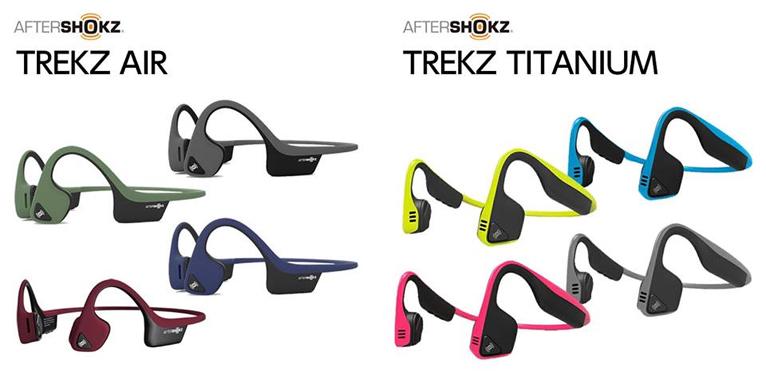 AfterShokz「TREKZ AIR」、「TREKZ TITANIUM」