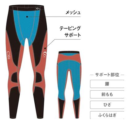 「C3fit(シースリーフィット)」から春夏特化のサポートタイツが登場。軽くて涼しい夏用モデルが発売。