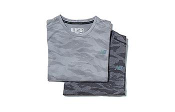 0ae69b7f206a4 Q SPEED ブリーズショートスリーブ [MEN] 価格:4,900円(税別) NB ICEの通気性と、NB DRY  Xの吸水拡散性を兼ね備えたTシャツ。カモフラージュ柄をジャガードで表現 ...