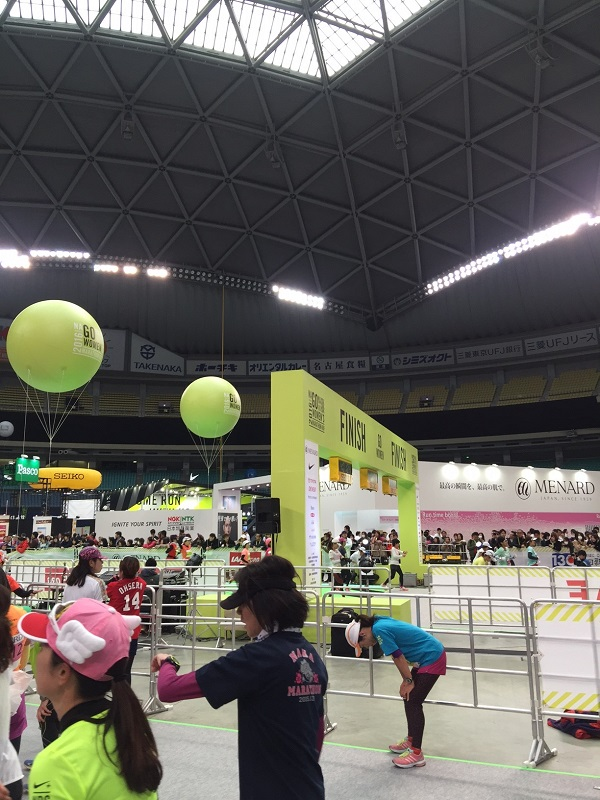 ナゴヤドーム内のゴール!!